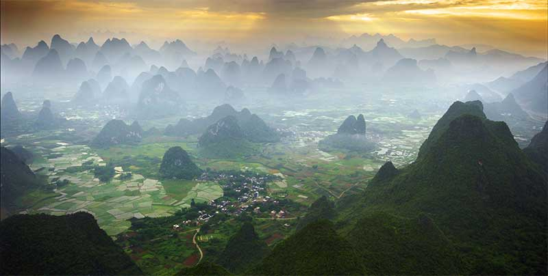 Most relevant tourist destinations in China