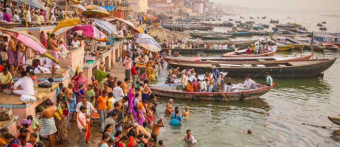 Devotees have been worshipping on the banks of the Ganges for thousands of years.