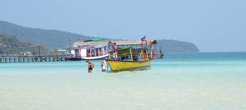 Ko Rong Sanloem's main beach is a tastefully developed paradise.
