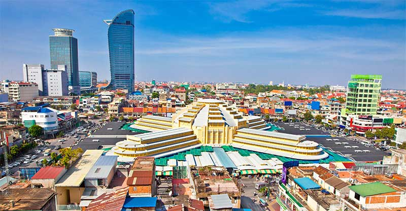 The Central Market is within 10 minutes of most Phnom Penh attractions.