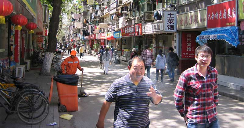 Nanjing's back streets teem with kaleidoscopic stimuli. Pic: Ken Marhsall