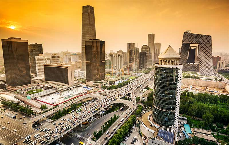 The Beijing financial district
