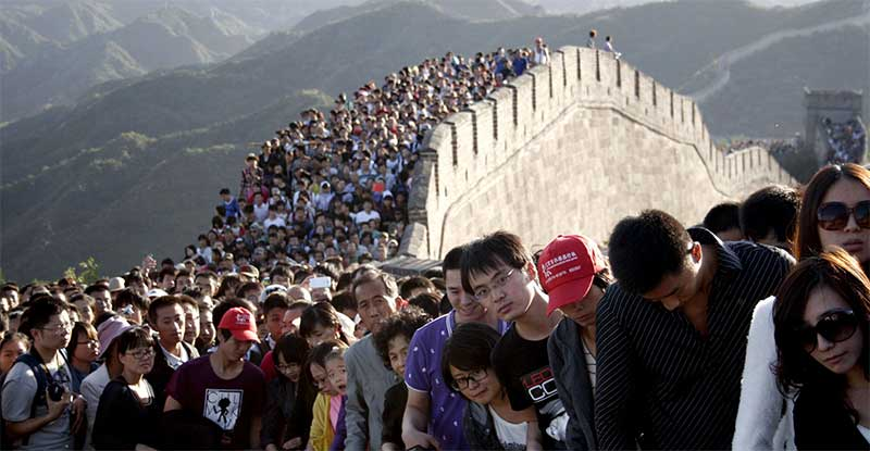 Expect insanely-packed crowds during Chinese holidays.