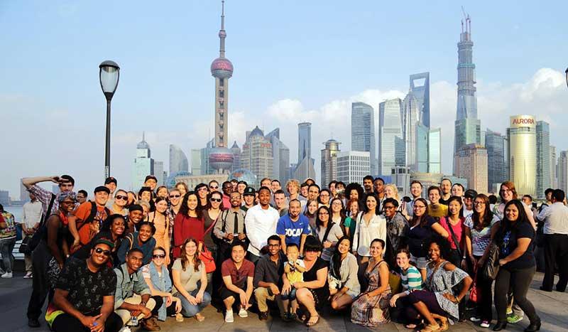 American interns in Shanghai