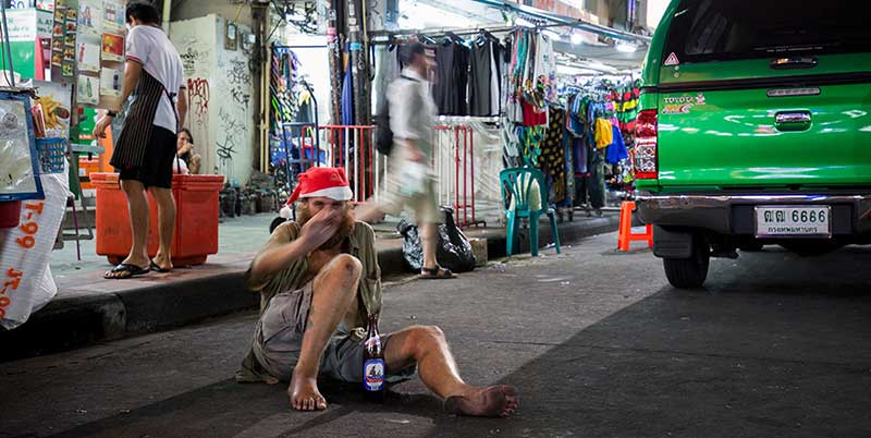Homeless foreigner in Thailand