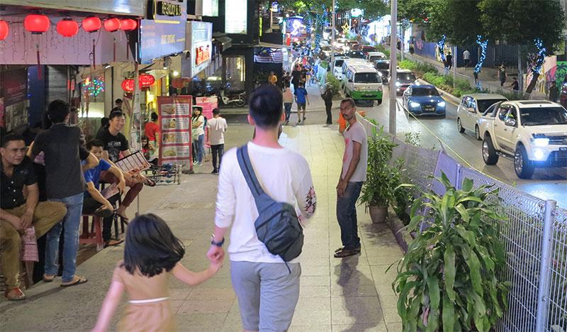 Strolling down Changkat Bukit Bintang in Kuala Lumpur