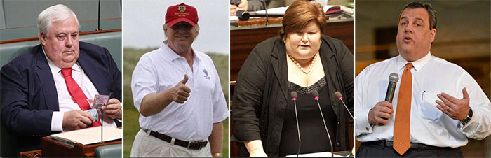 Fat powerful politicians