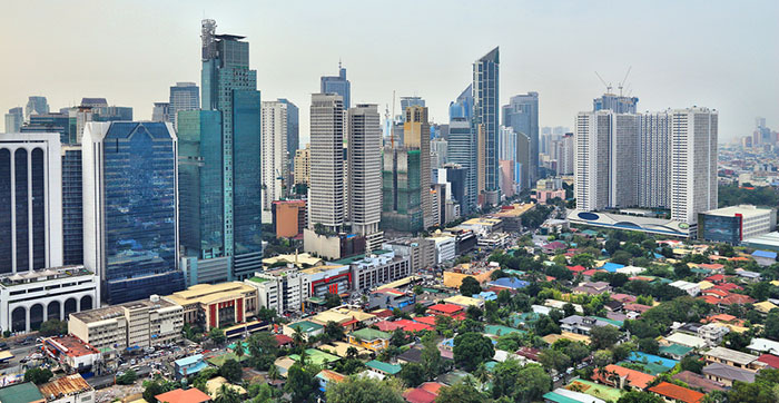 Makati skyline in the Philippines