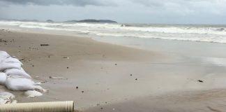 Raw sewage pouring into the sea in Cambodia